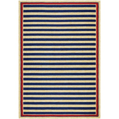 Covington Nautical Stripes Navy and Red (2 ft. x 4 ft.)