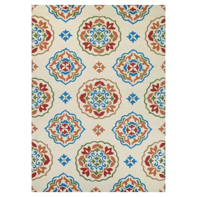 Covington San Clemente Rug Cream/Red 2ft. x 4ft.