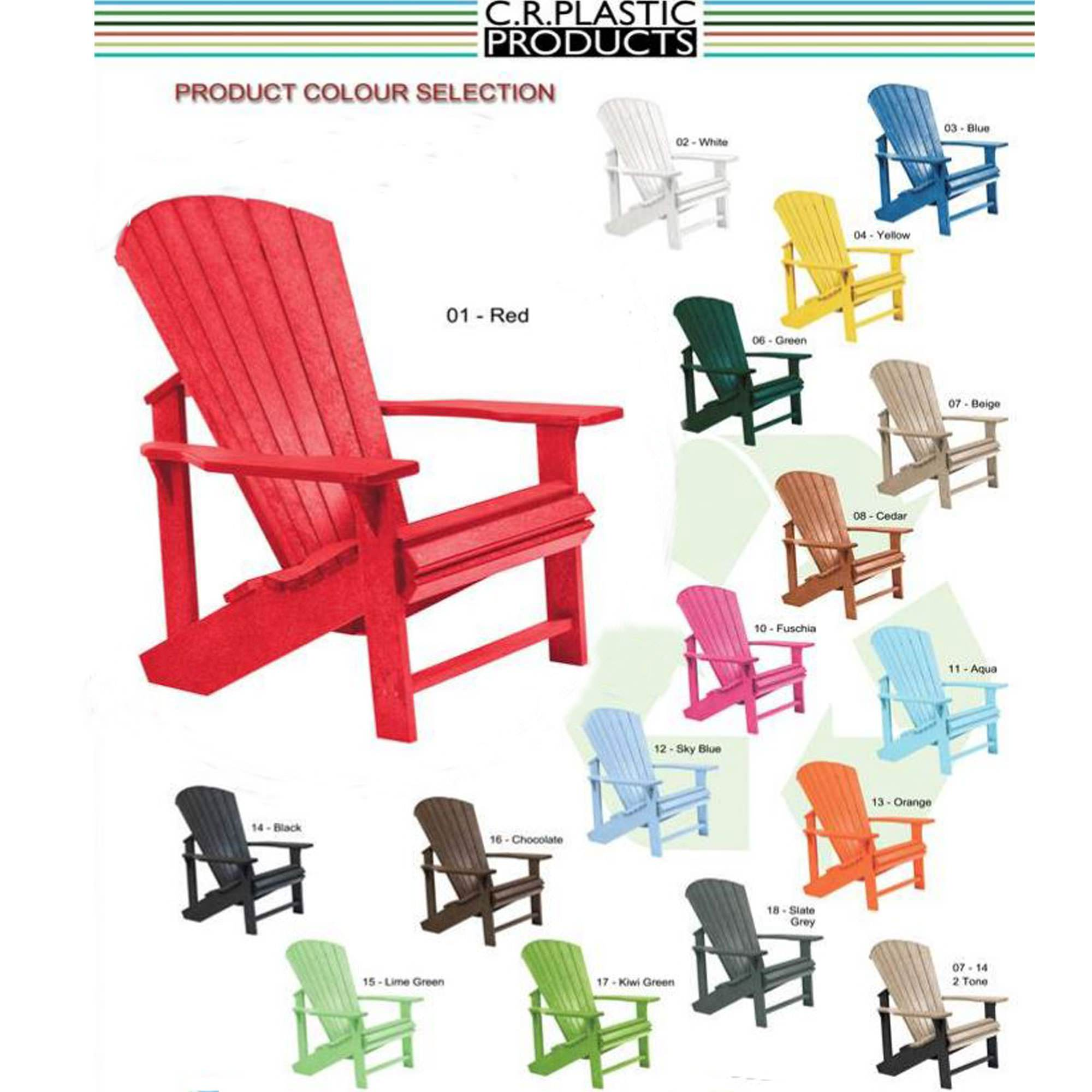 ... Poly Lumber Adirondack Chair And Headrest Combo ...