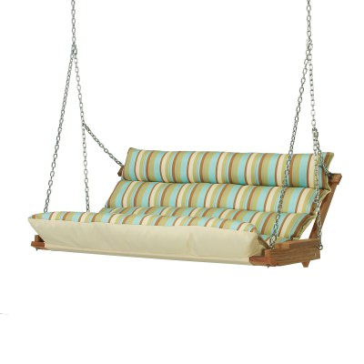 Deluxe Cushion Swing - Spring Bay Stripe