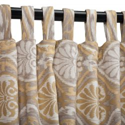 Sunbrella Outdoor Curtain with Tabs - Aura Honey