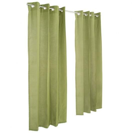 Spectrum Cilantro Grommeted Sunbrella Outdoor Curtains Dfohome