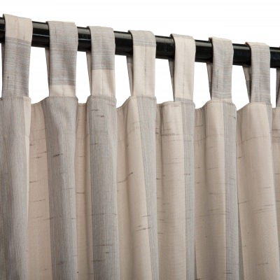 Sunbrella Outdoor Curtain with Tabs - Decade Pewter
