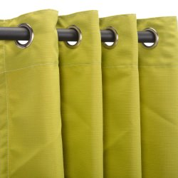 Echo Limelight Sunbrella Nickel Grommeted Outdoor Curtain