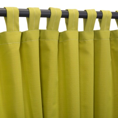 Sunbrella Echo Limelite Outdoor Curtain with Tabs