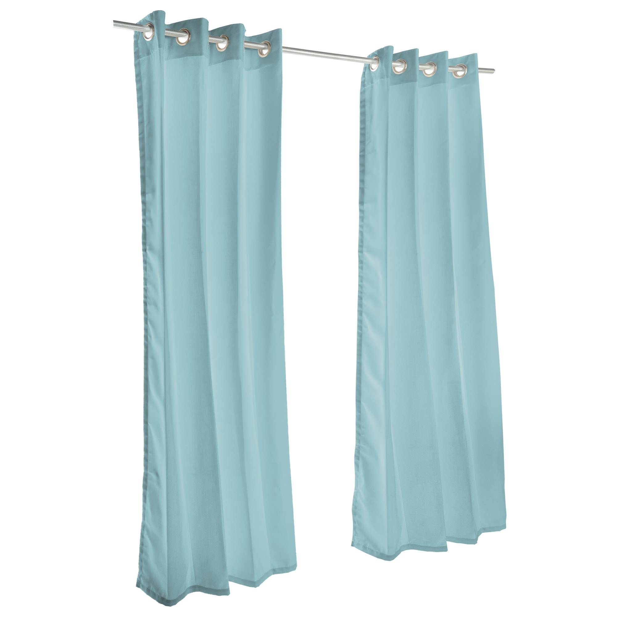 Canvas Glacier Grommet Sunbrella Outdoor Curtains Dfohome