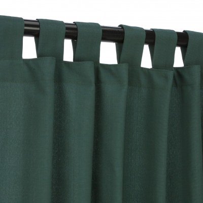 Green WeatherSmart Outdoor Curtain with Tab Topin 50 in. W by 120 in. L