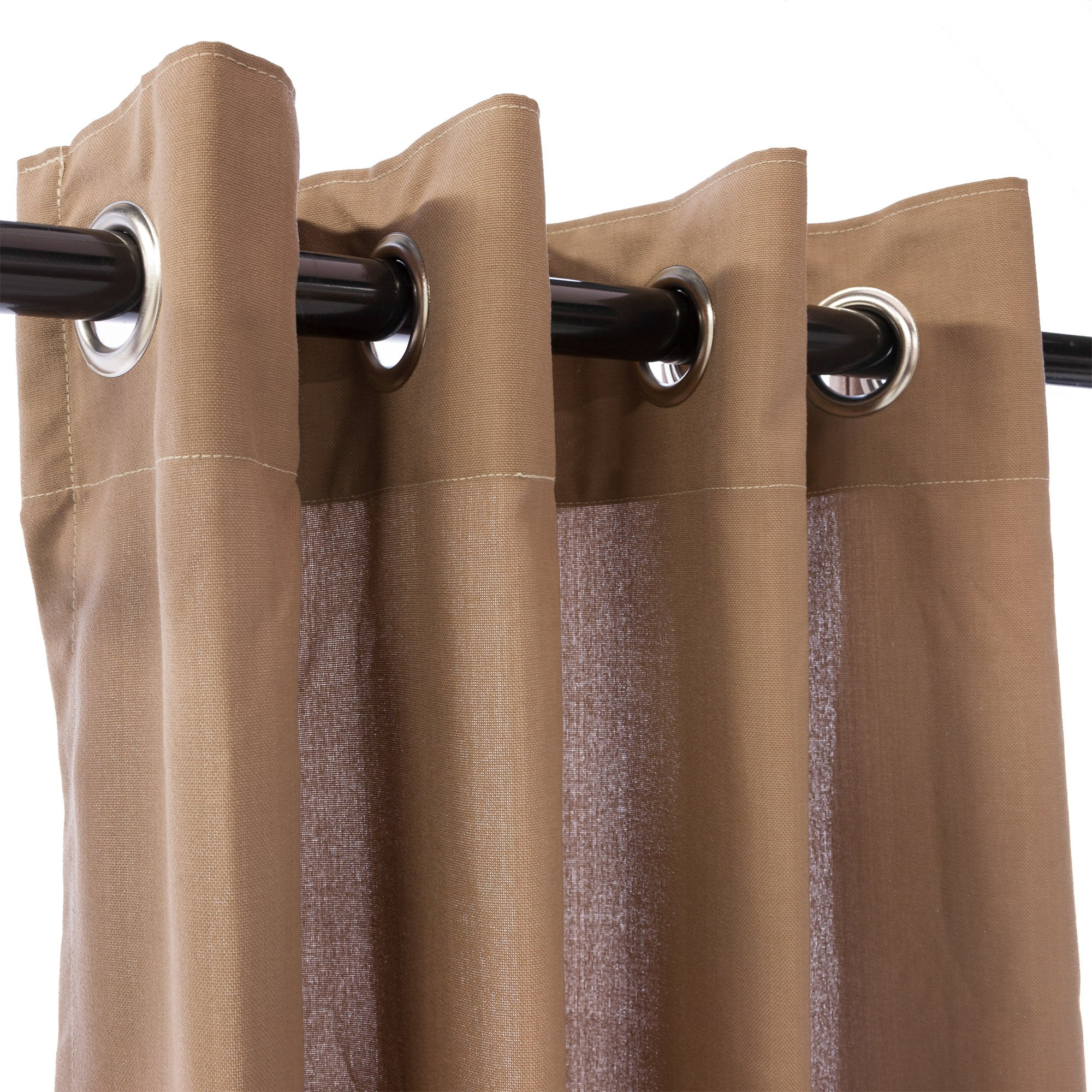 Shop Deep Tan Weathersmart Outdoor Curtain With Grommets 84 Long Hatteras Hammocks Curtains