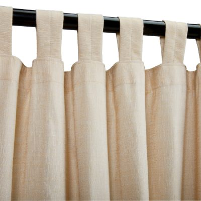 Honey Sheer Sunbrella Outdoor Curtain With Tabs