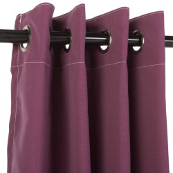 Sunbrella Canvas Iris Outdoor Curtain with Nickel Plated Grommets