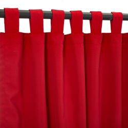 Sunbrella Canvas Jockey Red Outdoor Curtain with Tabs