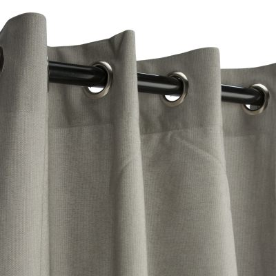 Black & gray outdoor curtains | DFohome