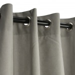 Dove Sunbrella Nickel Grommeted Outdoor Curtain