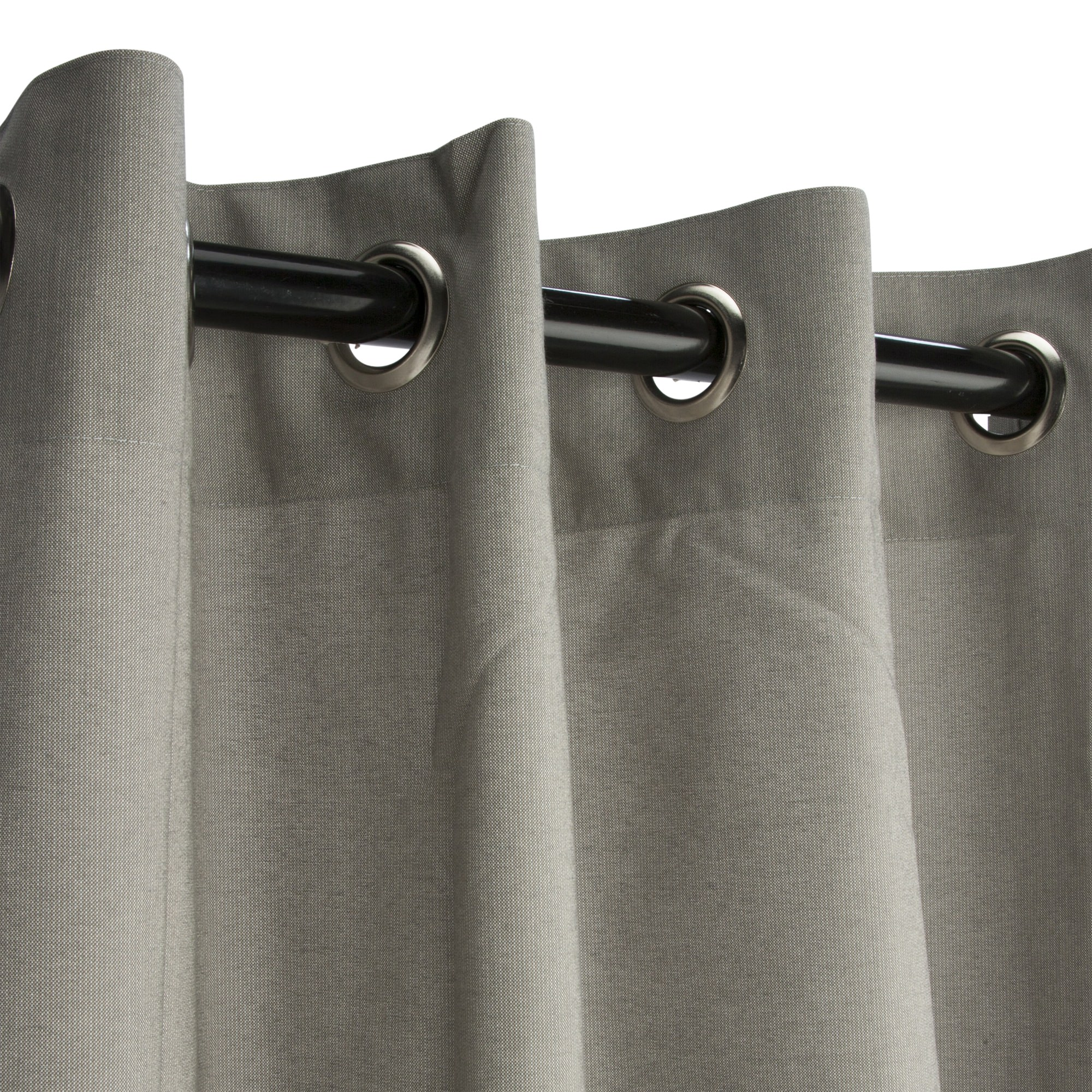Grommeted Dove Sunbrella Outdoor Curtains Dfohome