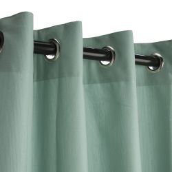 Mist Sunbrella Nickel Grommeted Outdoor Curtain