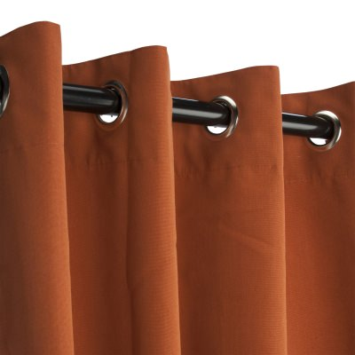 Rust Sunbrella Nickel Grommeted Outdoor Curtain