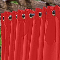 Rosso Extra Wide Outdoor Curtain