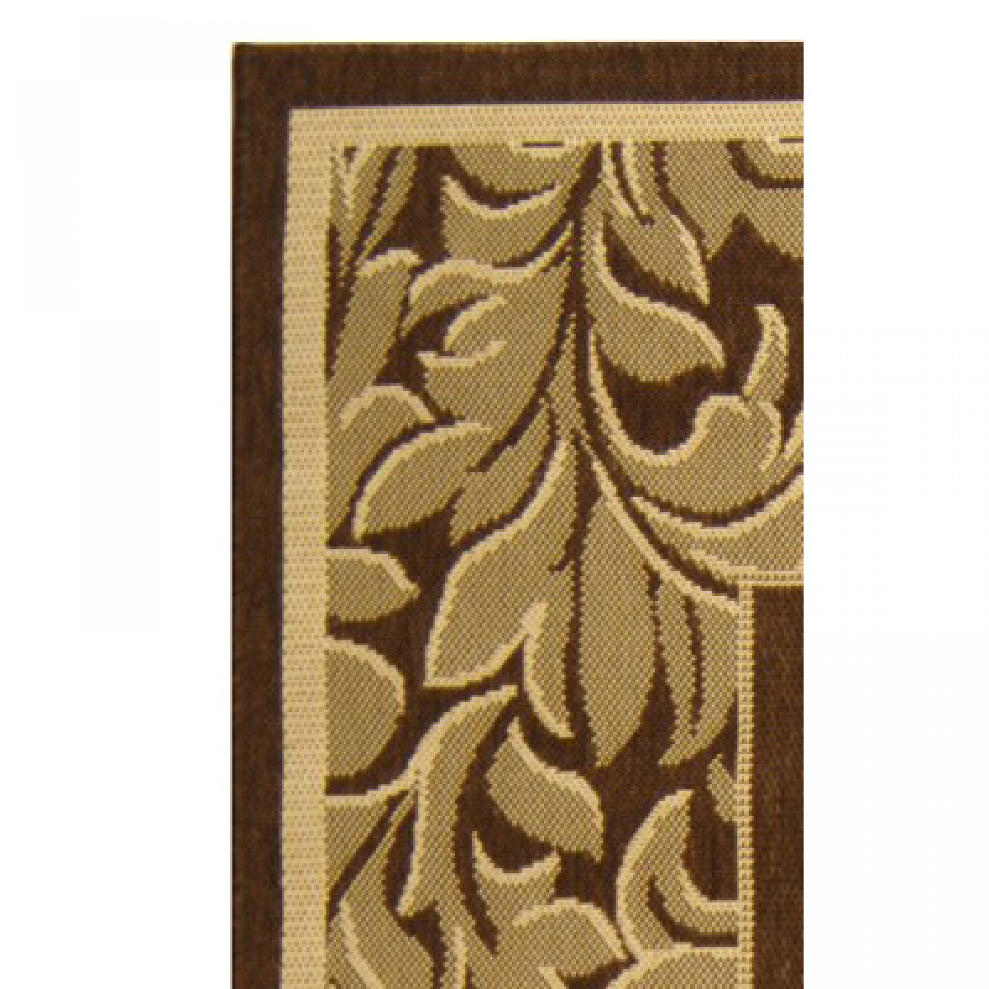 Shop Courtyard Paisley Border Brown Natural Outdoor Rug 2ft 7in x