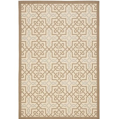 Courtyard Beige / Dark Beige Outdoor Rug8ft x 11ft 2in