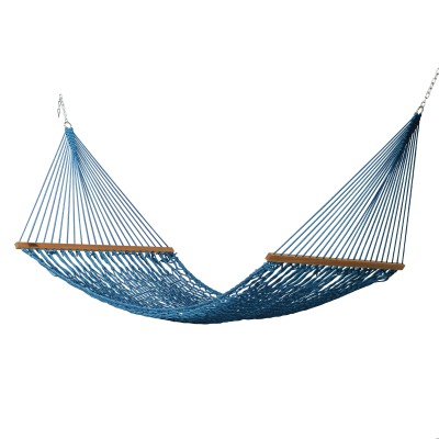 Large DuraCord Rope Hammock - Coastal Blue