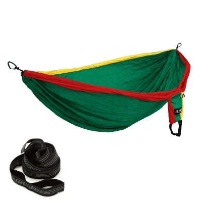 ENO Double Deluxe Hammock with Castaway Travel Hammocks Straps