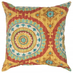 Multicolor Inessa Polyester Outdoor Throw Pillow 18 in. x 18 in. Square
