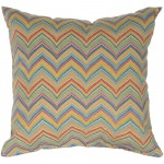 Multicolor Roselle Outdoor Throw Pillow 18 in. x 18 in. Square