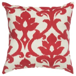 Cherry Red Basalto Outdoor Throw Pillow 18 in. x 18 in. Square