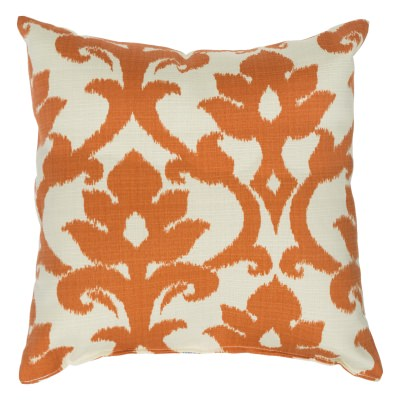 Tangerine Basalto Outdoor Throw Pillow 18 in. x 18 in. Square