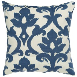 Navy Blue Basalto Outdoor Throw Pillow 18 in. x 18 in. Square