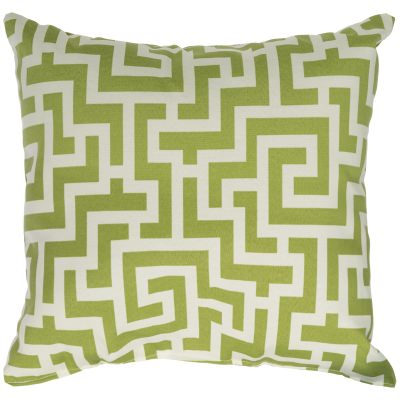 Kiwi Green Keyes Outdoor Throw Pillow 18 in. x 18 in. Square