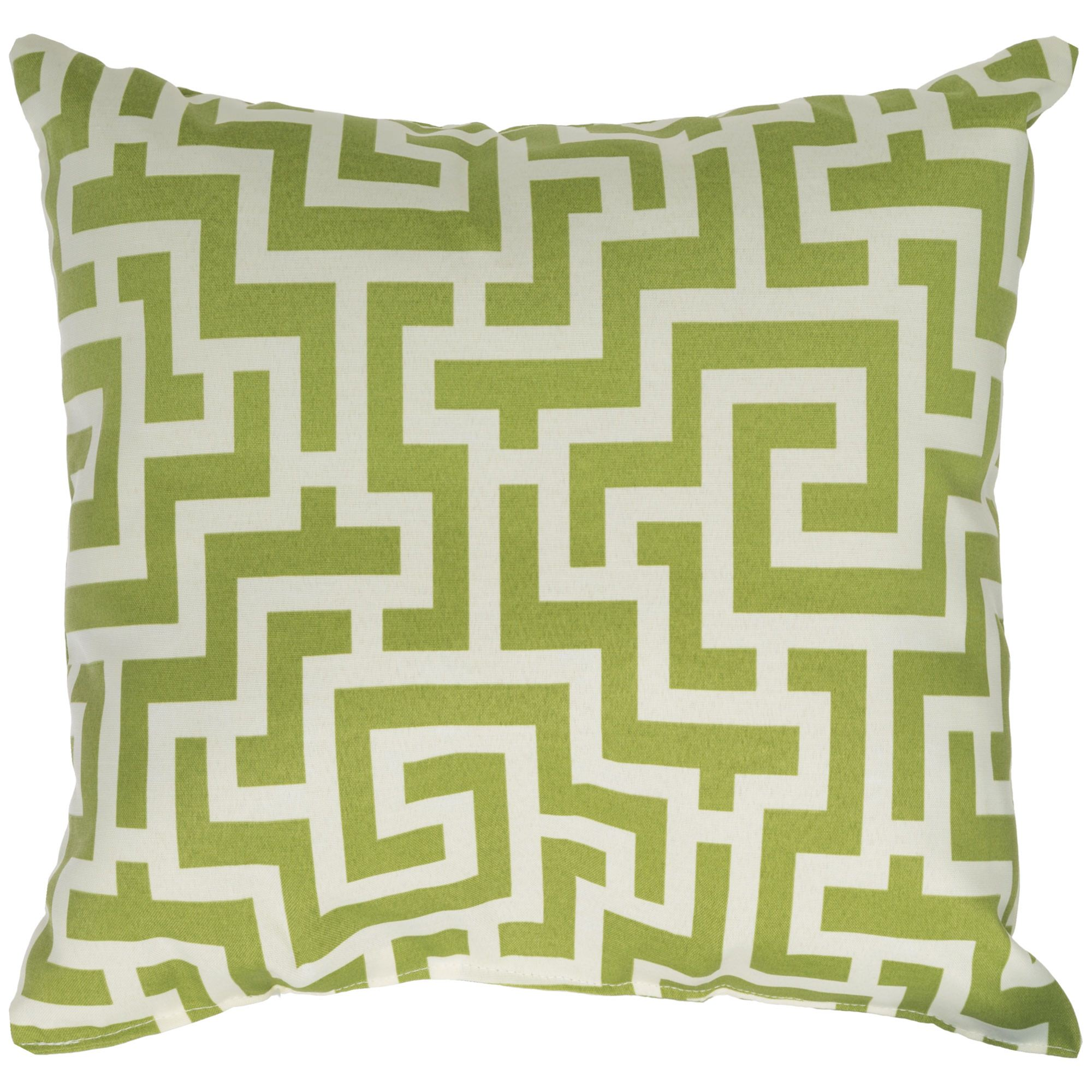 Keyes Decorative Pillow : Kiwi Green Keyes Outdoor Pillow 18 x 18 on Sale DFOHome