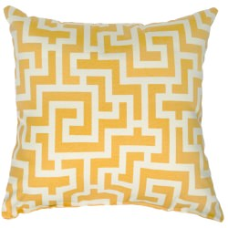 Banana Yellow Keyes Outdoor Throw Pillow 18 in. x 18 in. Square