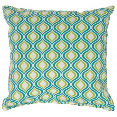 Peacock Zinger Outdoor Pillow 18 in. x 18 in. Square