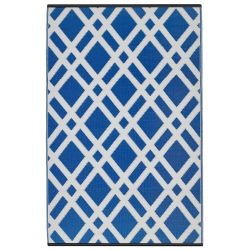 Dublin Dazzling Blue and White Outdoor Mat