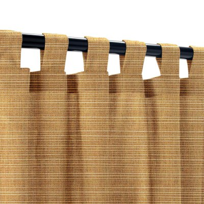 Sunbrella Dupione Caramel Outdoor Curtain with Tabs