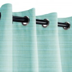 Sunbrella Dupione Celeste Outdoor Curtain with Nickel Grommets