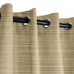 Sunbrella Dupione Latte Outdoor Curtain with Nickel Grommets