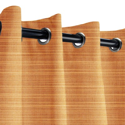Sunbrella Dupione Nectarine Outdoor Curtain with Grommets