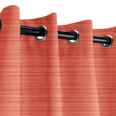 Sunbrella Dupione Papaya Outdoor Curtain with Grommets