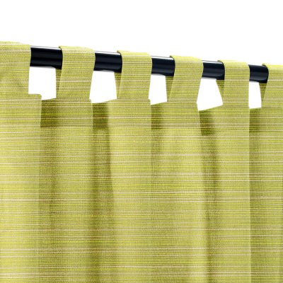 Sunbrella Dupione Peridot Outdoor Curtain with Tabs