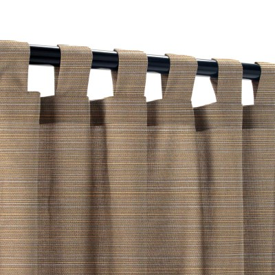 Sunbrella Dupione Stone Outdoor Curtain with Tabs