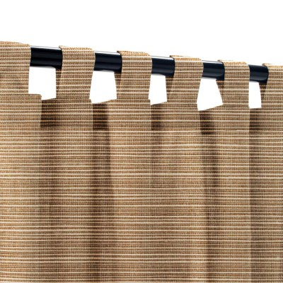 Sunbrella Dupione Walnut Outdoor Curtain with Tabs