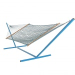 Large DuraCord Rope Hammock with Brazilian Teak Spreader Bar - Everglade