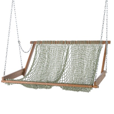 Original Brazilian Teak Duracord Rope Swing - Emerald