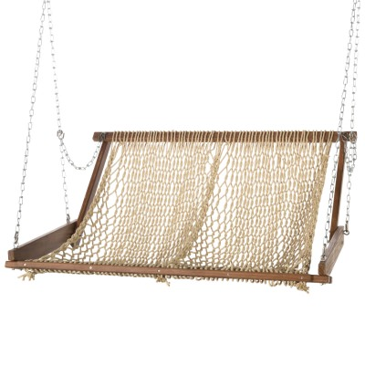 Original Brazilian Teak Duracord Rope Swing - Sand