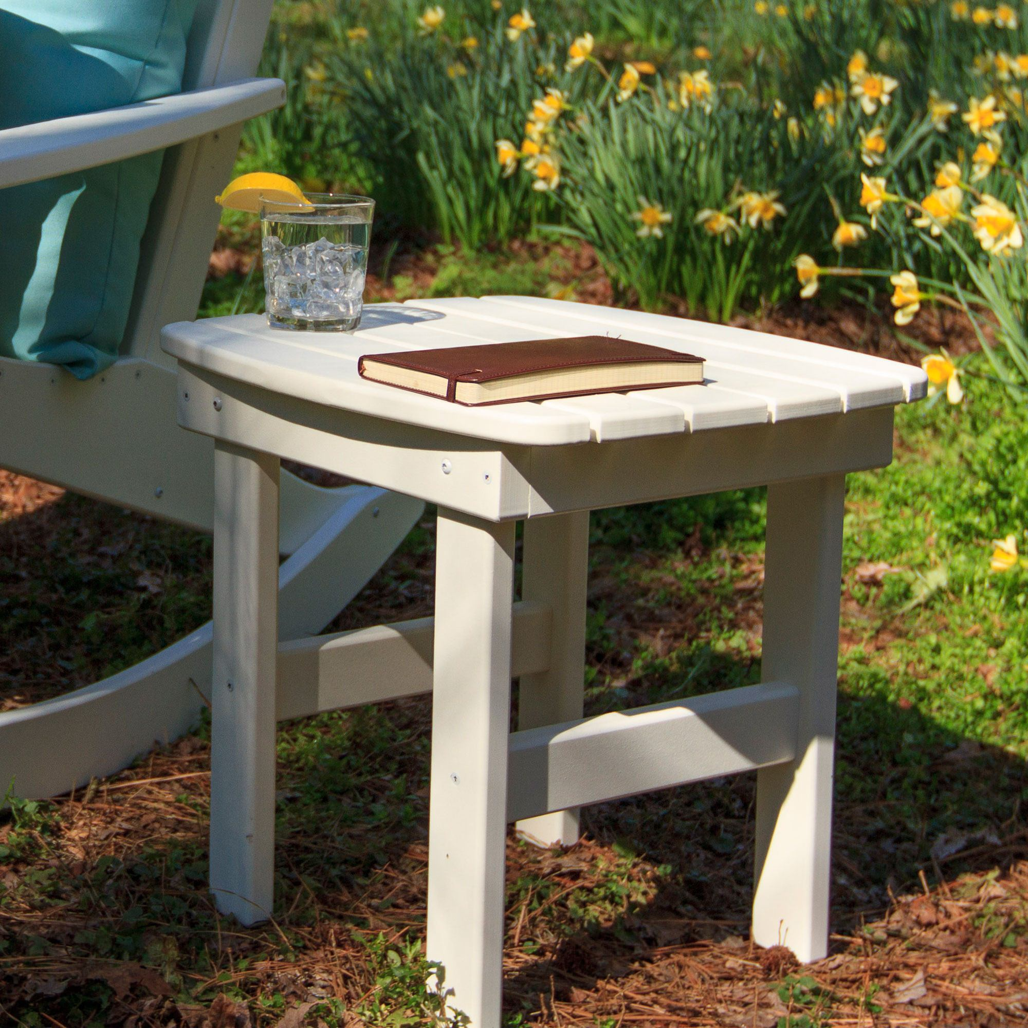 White Durawood Side Table ...