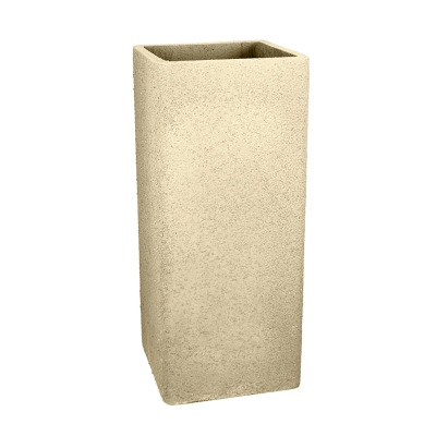 36 In. Tall Square Fiberclay Outdoor Patio Planter Pot available in Cream Grey or Anthracite