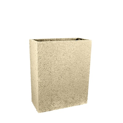 27 In. Tall Rectangle Fiberclay Outdoor Patio Planter Pot available in Cream Grey or Anthracite