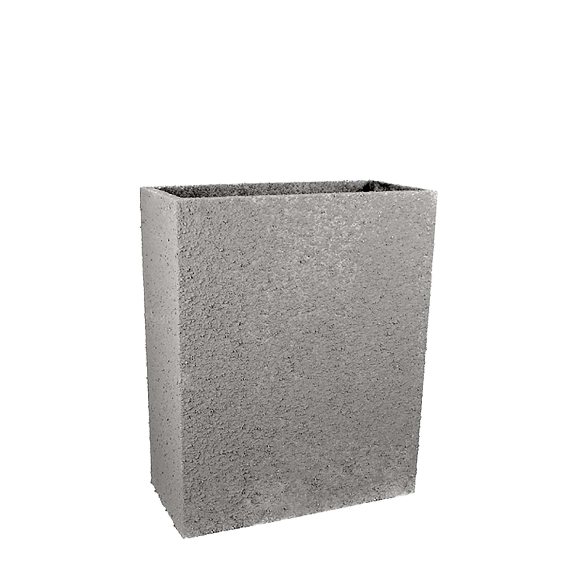 in tall rectangle fiberclay outdoor planter pot by le present  -   in tall rectangle fiberclay outdoor patio planter pot available incream grey or anthracite